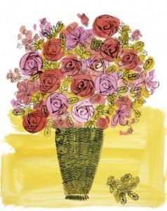 Andy Warhol - Basket of Flowers - 1958