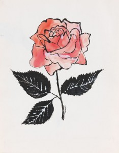 Andy Warhol - untitled (pink Rose)