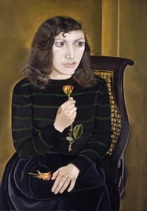 Lucian Freud - Jovem com rosas - 1947