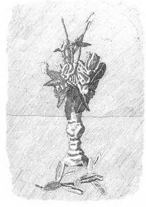 Morandi - Budding Roses in a Vase