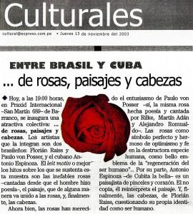 Matéria sobre exposição em Lima no Peru