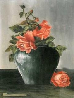 Frida Kahlo - Still Life, Roses - 1925