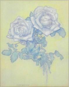 Mondrian - Two Roses - 1921