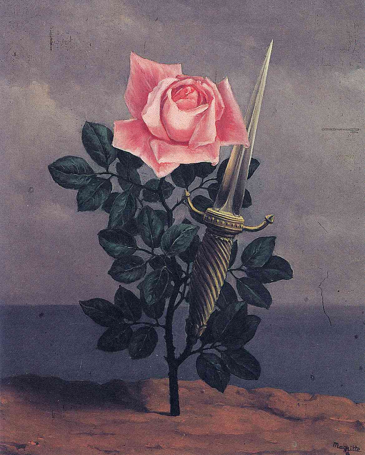 René Magritte -  The Blow To The Heart