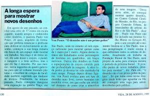 """""""O desenho não é um primo pobre da pintura"""" Trecho de entrevista para a revista Veja, em 28 de Agosto de 1985."""