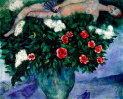 CHAGAL - The Woman and the Roses