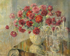 Georgina de Albuquerque - Vasos de Flores e Candelabro