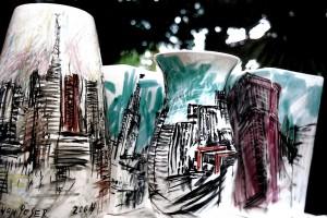 """Obras da exposição """"Vistas de São Paulo"""""""