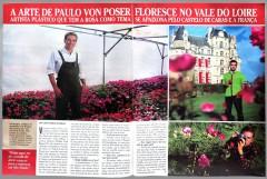Matéria Revista Caras citando exposição Roses.