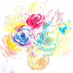 vaso-amarelo-rosas-vermelha-e-azul