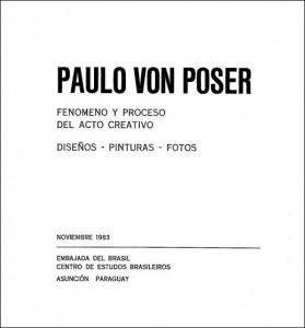 """Convite da exposição """"Fenomeno y Processo Del Acto Creativo""""."""