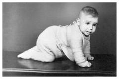 Paulo von Poser quando bebê