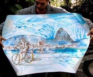 Bike-em-Copacabana-aquarela